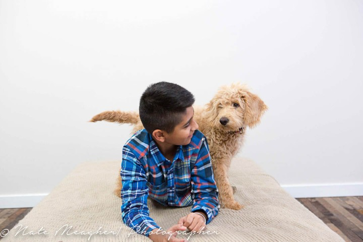 A Boy and his Puppy Morris Canal| Jersey City NJ Family Portrait Photography